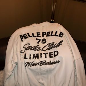White leather Pelle Pelle 🔥 -Size 56 $500 or b/o